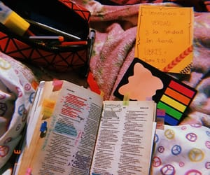 bed, bible, and libro image