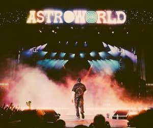 travis scott, astroworld, and concert image
