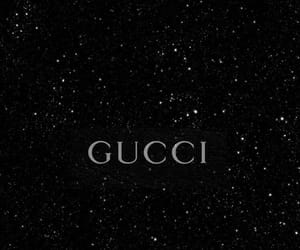aesthetic, black and white, and gucci image