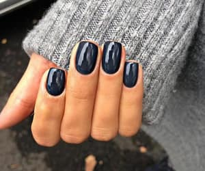 Bleu, nail polish, and vernis image
