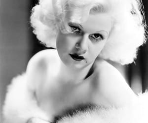 actress, b&w, and jean harlow image