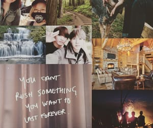 bts army aesthetic and camping aesthetic image