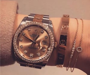 gold, luxury, and rolex image