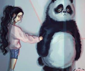 panda and panda drawing image