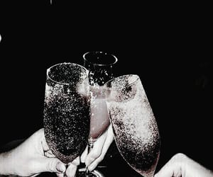 aesthetic, champagne, and dark vogue image