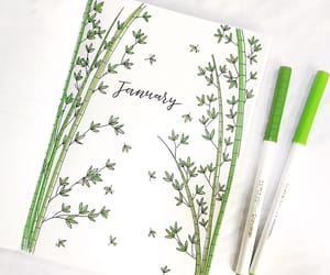 art, green, and writing image