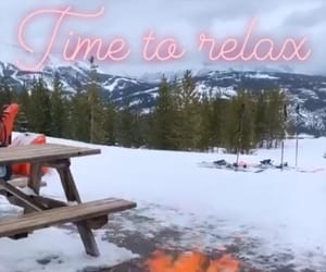 nieve, fogata, and time to relax image