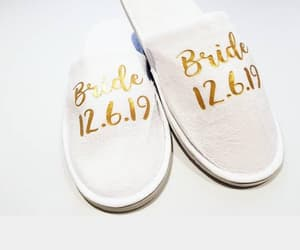 custom, wedding sandals, and bridalparty image