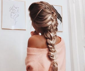 baby, blonde, and braids image