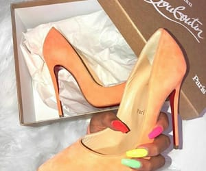 colorful nails, france, and shoes image