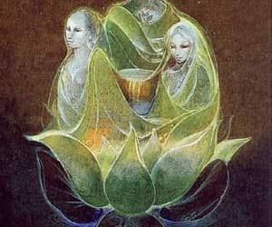 shaman, triple goddess, and visionary image