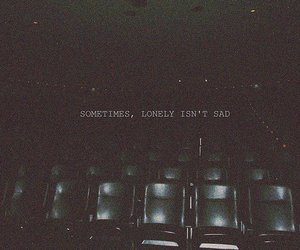 lonely, sad, and text image