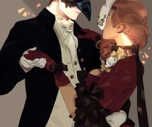 couple and mask image