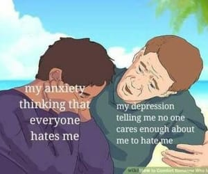 anxiety, care, and sad image