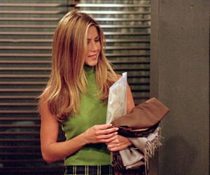 green, friends, and Jennifer Aniston image
