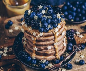 food, pancakes, and blue image