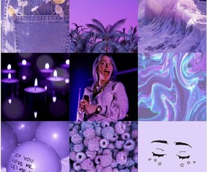 purple, billie eilish, and tumblr image