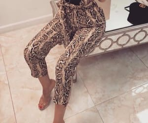 pants, snake skin, and hight waist image