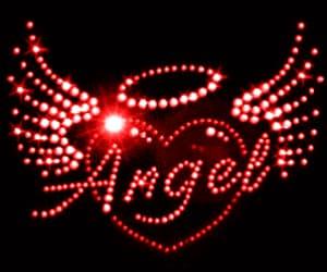 angel, gif, and heart image