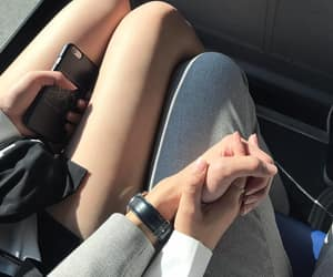 asian, couple, and hand image