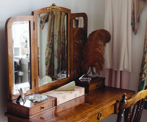 dresser, home, and mirror image