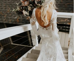 bride, dress, and happy image