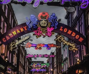 carnaby street, london, and night image