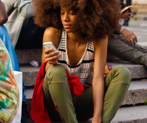 Afro, converse, and dope image