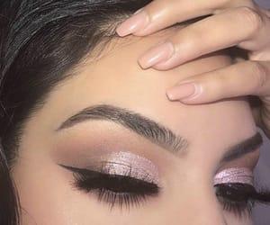 eyeliner, glitter, and glow image