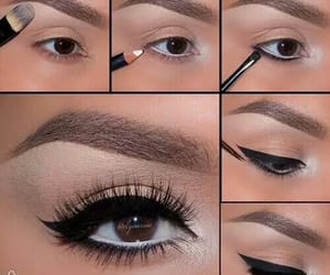 beauty, eye, and make up image