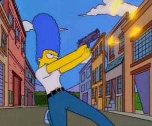 simpsons, cartoon, and marge image