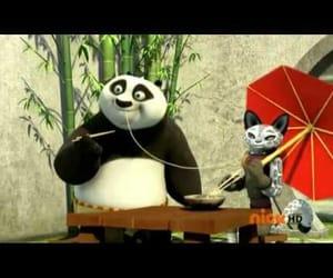 animation, video, and kung fu panda image