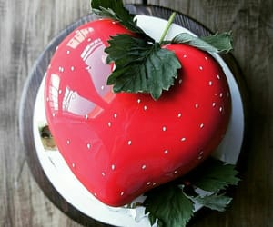 cake, happy, and red image