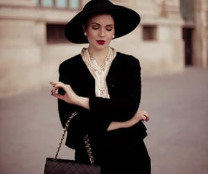 chanel, hat, and vintage image