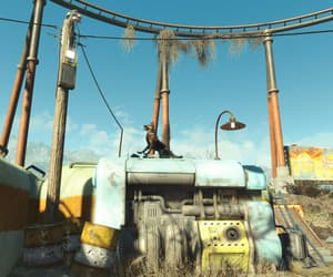 fallout, rollercoaster, and wasteland image