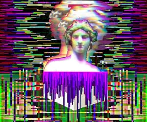 aesthetic, edit, and trippy art image