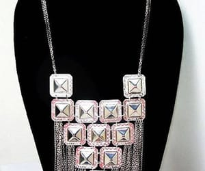 etsy, statement necklace, and silver necklace image