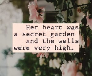 garden, heart, and her image