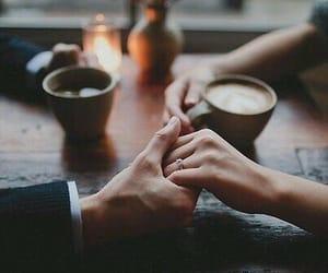 love, couple, and coffee image