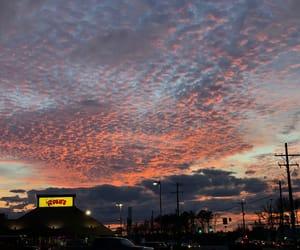sky, pink sunset, and beautiful sunset image