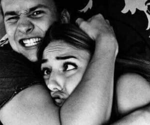 black and white, عشقّ, and couple image
