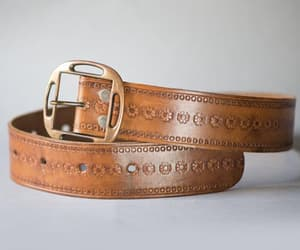 etsy, western belt, and tooled leather belt image