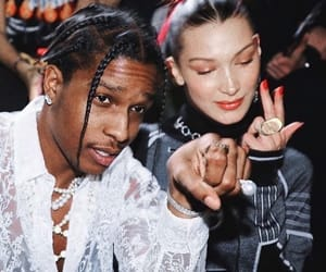 asap rocky, bella hadid, and model image