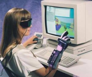 computer, retro, and 80s image