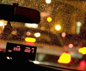 cab, taxicab, and city image