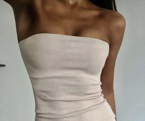 beige, dress, and style image