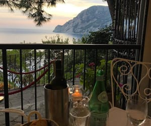 dinner, italy, and view image