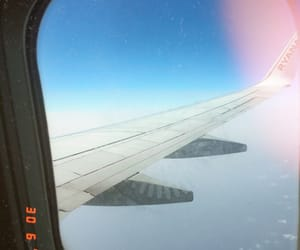 airplane, plane, and blue image