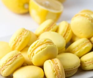 lemon, yellow, and ‎macarons image