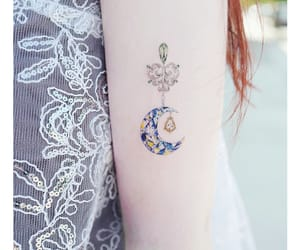 body art, inked, and moon image